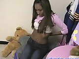 Black girlfriend fucked in homemade sex