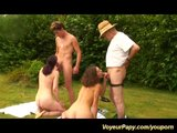 outdoor groupsex with voyeur papy