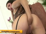 her first anal self fisting lession