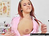 Freaky redhead Terry Sullivan cervix details