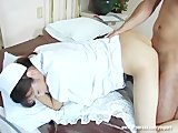 beauty japanese nurse Hijiri Kayama gets oral cumshots