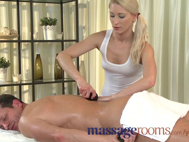Porno Video of Massage Rooms Skinny Blonde Has Tight Pussy Filled In Steamy Oily Encounter