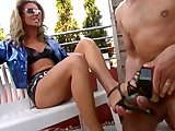 Submissive Guy Cums On Mistress' Heels - SMALL TALK