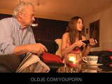 Grandpa fucked by young Alice