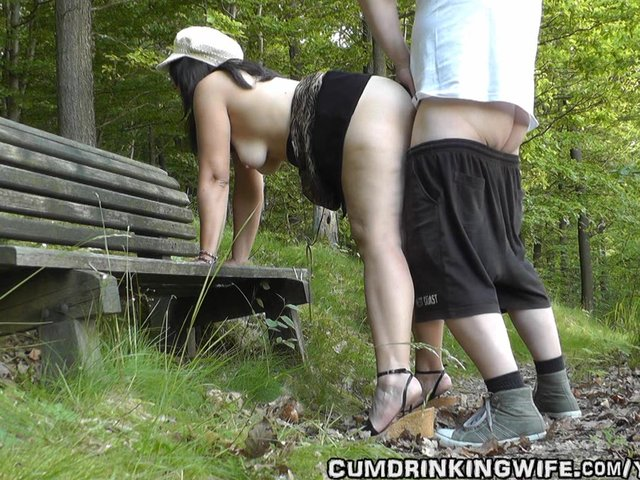 Wife fucks in park