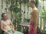 He sucks it down in the backyard- Cum Pig Men