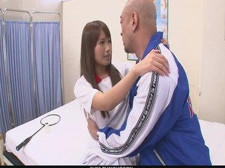 Hardcore Japanese Oriental video: Sexy Suzu Minamoto Gets Creampied By Her Coach