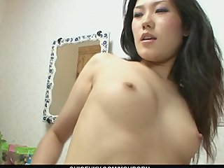 Japanese Milf Oriental video: Bondage ties around Yui Komine ensure a good pussy toy fucking