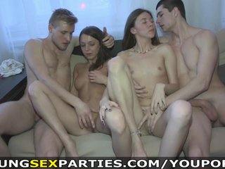 Young Sex Parties – Teens share boyfriends' dicks