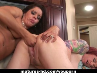 Mature lesbian action with Francesca Le and Kylie Ireland