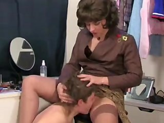 Panty Mom Masturbating vid: Mom calls her step-son and he was masturbating with her panties