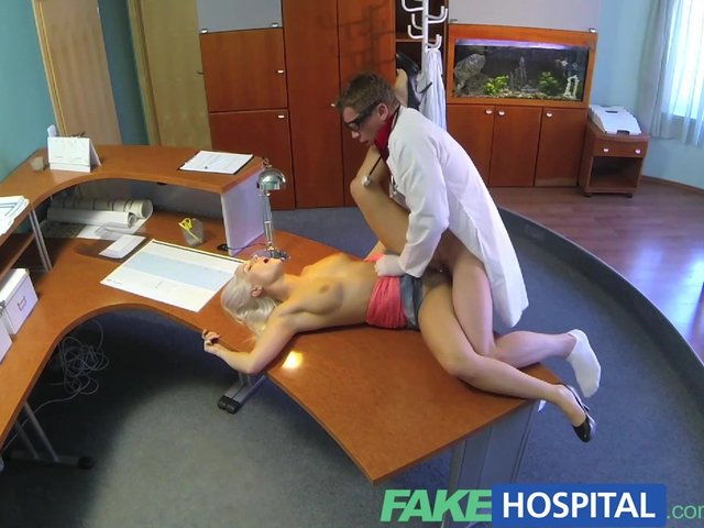 Naked girl on reception at the gynecologist gyno - 1 9
