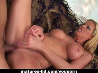 Blonde Milf Mature video: WIld MILF Nicole Sheridan has a steamy ride