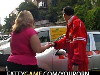 Bbw Big Tits Big Ass video: Fatty seduces him into sex