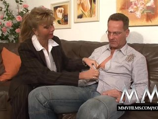 Busty Couple Cumshit video: MMV Films Fucking her pussy as a pay off
