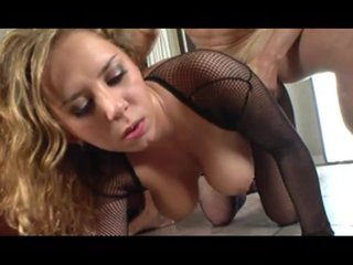 Cumontits Doggystyle video: Big titty slut gets fucked in her fishnet outfit