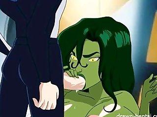 Toon Superheroes Animted Sex vid: Shehulk Hentai
