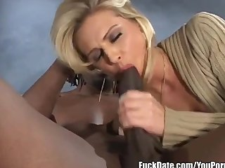 horny hot blonde gets drilled by huge black cock in the ass