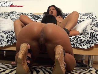 Amateur Lesbians Big Tits Brunettes video: FunMovies Two thick german amateur lesbians