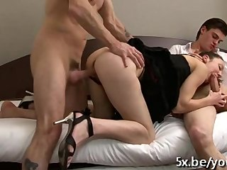 Gangbang Amateur French video: Sophie fucked by few guys