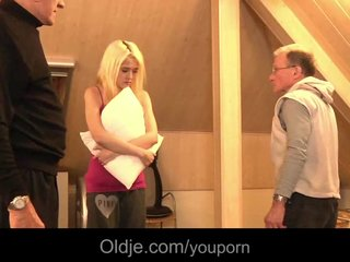 Teens Old Blonde video: Big old dick satisy a young nympho babe