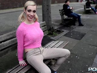 Public Blonde Big Tits video: PornXN Big tits and wet pants