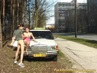 Taxi Public Sex Sex Adventures video: horny taxi driver needs a break