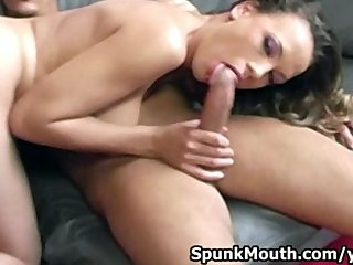 Hot babe Kitten enjoys sucking cock for a cum in mouth