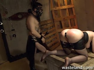 Porno video: Chained up butt plugged and fucked hardcore doggy style