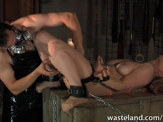 Hardcore Bdsm Blonde video: Blonde sex slave is treated to industrial hardcore pleasure pain