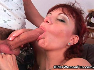 Cougar shows daughter how to ride dick 7