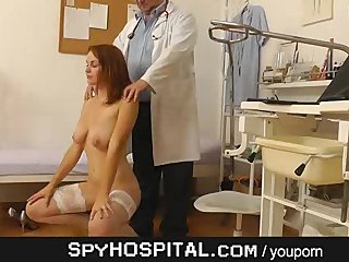 Medical Hidden Cam Gyno Hidden Cam video: Doctor hidden cam in gyno clinic exam room