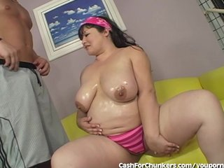 Chunky Chick With Huge Breasts Getting Fucked