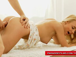 Blonde Blowjob Couple video: Paradise Films Sensual blonde desires cock