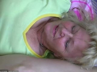 Amateur Bbw Old vid: Old mature granny with other mature granny