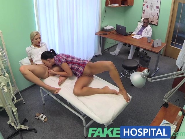 Fakehospital doctor and nurse enjoy patients wet pussy - 2 part 4