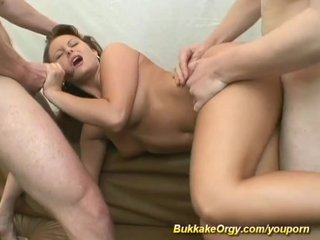 German Gangbang Amateur video: young german bukkake orgy
