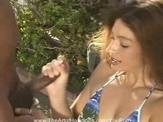 Brunette Teen Tries a Handjob