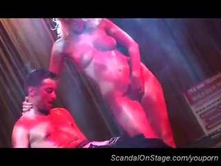 Live Stage Sexshow video: fetish scandal show in public