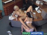 FakeHospital Nurse and patient lick each others tight pussies