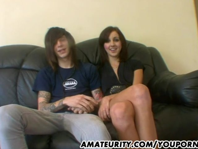 Hardcore Teen Blowjob video: Amateur couple home action with facial cumshot