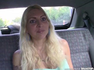 Bitch STOP - Blonde bitch having outdoor sex