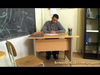 College French Girlschoo video: busty schoolgirl fucked by teacher