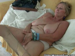 British Milf British Mom British Mature video: Pantyhosed and British mums are a perfect match