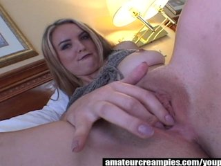 Cosima gets filled up with cum on Amateur Creampies