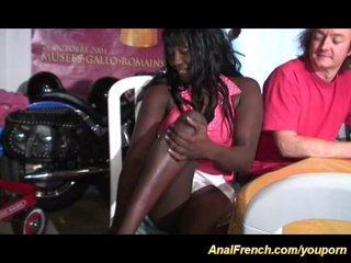 Amateur Porn Anal Sex Anal Virgins video: french chocolade needs deep anal