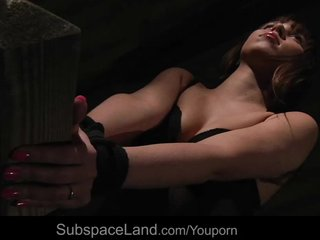 Blowjob Bondage Doggystyle video: Carrie driven in the bridge for kinky fantasy pleasures