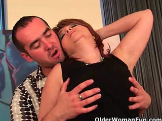 Grandmother Milf Facial Mom Facial vid: Shoot your cum load on a grandma's face or tits