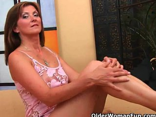 Mature Facial Milf Facial movie: Grandma wants a facial today