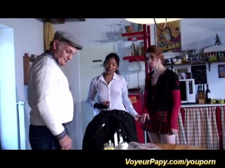 Gangbang French Voyeur video: the best day for voyeur papy